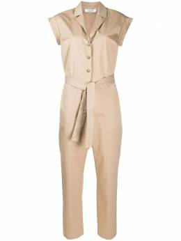 Peserico belted short-sleeve jumpsuit S02975A01979