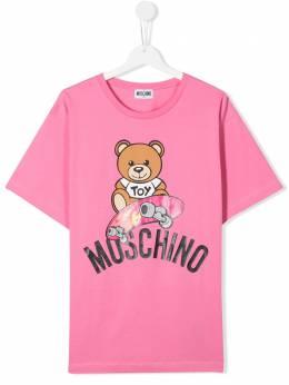 Moschino Kids TEEN skater teddy print T-shirt HVM029LBA10