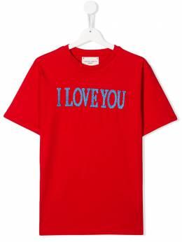 Alberta Ferretti Kids футболка с вышивкой 022146