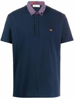 Etro рубашка-поло с вышитым логотипом 1Y1438271