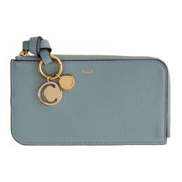 Chloe Blue Alphabet Zip Around Wallet CHC19WP017H9Q