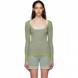 Jacquemus Green Le Maille Rosa Sweater 201KN19-201 51551