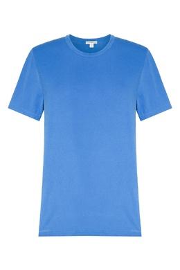 Синяя футболка с круглым вырезом James Perse 280183489