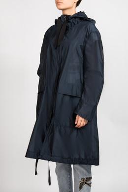 Синий плащ с капюшоном Dorothee Schumacher 1512183574
