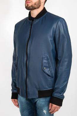 Синяя куртка с черной отделкой Hugo Boss 622183542