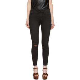 Frame Black Le High Skinny Cropped Jeans LHSKCRA208