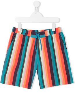 Paul Smith Junior плавки-шорты в полоску 5Q38512