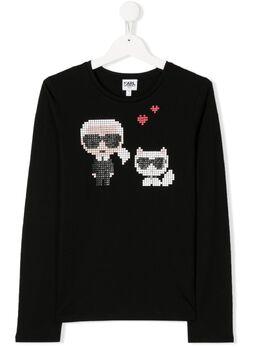 Karl Lagerfeld Kids long sleeve printed Karl T-shirt Z1524809B