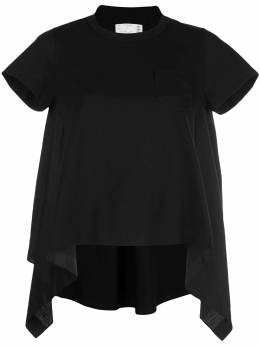 Sacai футболка асимметричного кроя 2004889