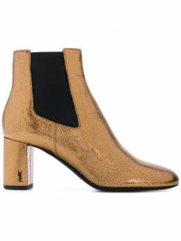 Saint Laurent блестящие ботинки челси 472042AKPVV