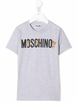Moschino Kids TEN logo Bear T-shirt H7M01ILAA08