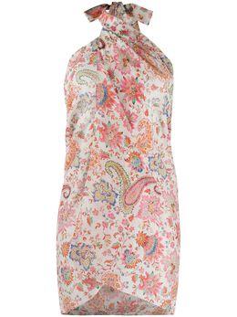 Etro шарф с цветочным принтом и принтом пейсли 150235481