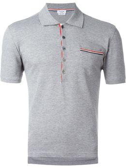 Thom Browne футболка-поло с нагрудным карманом MJP022C00047