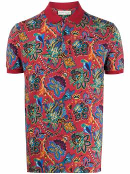 Etro рубашка-поло с принтом пейсли 1Y0404057