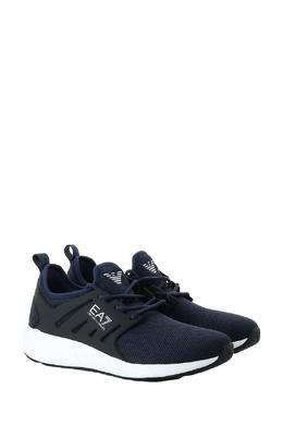 Синие текстильные кроссовки Ea7 2944184729
