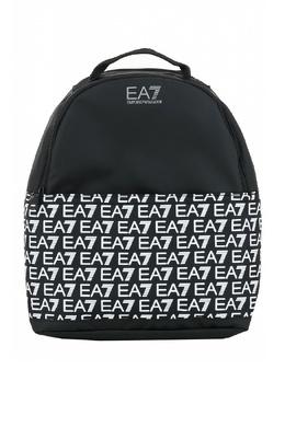 Черный рюкзак с логотипами бренда Ea7 2944184718