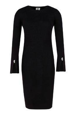 Черное платье с разрезами на рукавах Liu Jo 1776184517