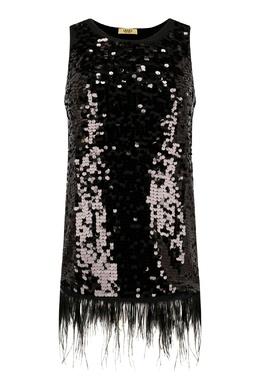 Черное платье с перьями Liu Jo 1776184523