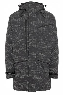 Серая куртка с камуфляжным принтом Ea7 2944184672