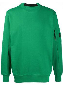 C.P. Company elasticated detail logo print sweatshirt 08CMSS014A005160W