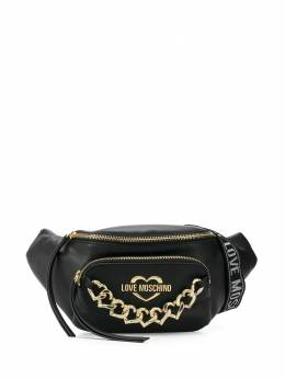 Love Moschino chain logo belt bag JC4042PP1ALF0