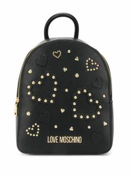 Love Moschino studded logo plaque backpack JC4036PP1ALE0
