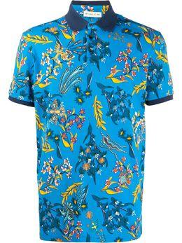 Etro рубашка-поло с цветочным принтом 1Y8004065