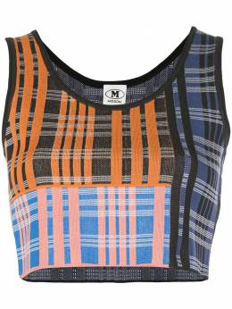 M Missoni check pattern knit top 2DK000082K0044