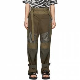 Sacai Khaki Fabric Combo Pants 20-02219M