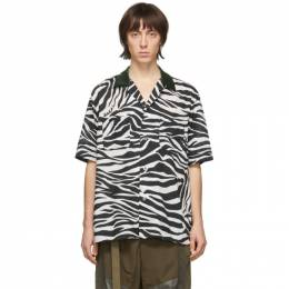 Sacai Black and White Zebra Short Sleeve Shirt 20-02256M