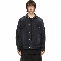 Sacai Black Denim Jacket SCM-022