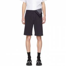 Y / Project Navy Asymmetric Shorts WPANT50-S18